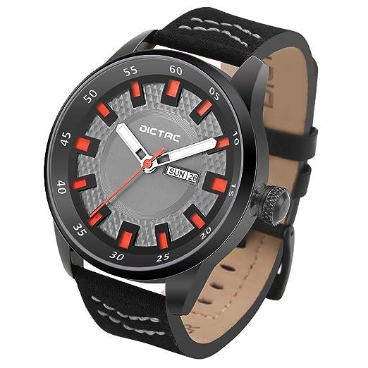 Dictac Reloj de Pulsera Deportivo Hombre con dos Correas de Estilo Diferente y Herramientas para Desmontar: Amazon.es: Relojes