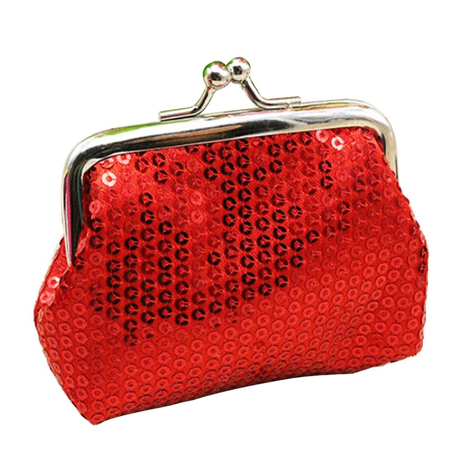 Sanwood Women's Sequins Coin Purse Buckle Mini Wallet SHOMPF3745