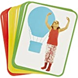Roylco Body Poetry Illustrated Yoga Cards with Instructions - 8 1/2 x 11 inch - Set of 16