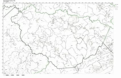 Amazon.com: McDowell County, West Virginia WV ZIP Code Map ...