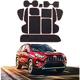 CDEFG Car Gate Slot Mat Trunk Interior Protector Non-Slip Cushion PVC Waterproof Door Slot Pad Cup Mat for Toyota RAV4…