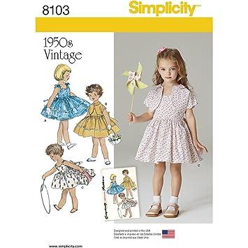 d6306353b509d Simplicity Enfant Vintage 1950 de Papier Patron de Couture Robe et Veste  doublée