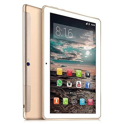 4G LTE Tablet 10 Pulgadas HD - TOSICDO Android 9.0 Certificado por Google GMS,Quad Core,64GM ROM,4GB RAM,Doble Altavoz Estéreo,WiFi/Bluetooth/GPS/OTG ...
