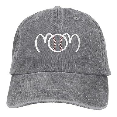 ONE-HEART HR Baseball Mom Adult Cowboy Baseball Caps Denim Hats For Men  Women e24a4bc612af
