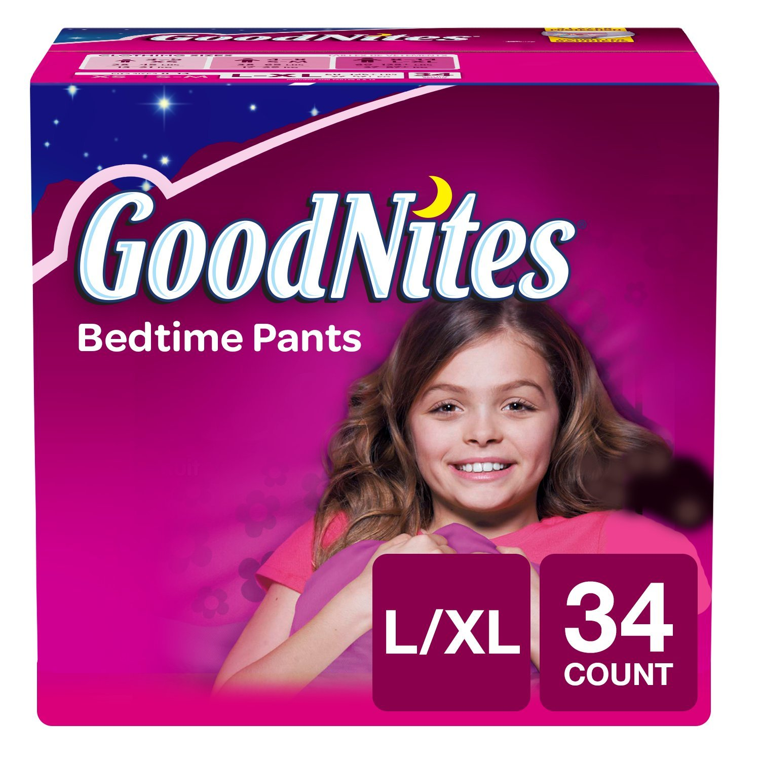 Amazon Com Goodnites Youth Pants For Girls L Xl 30