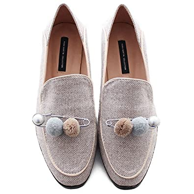 Amazoncom Giy Womens Classic Dress Penny Loafers Flats Square