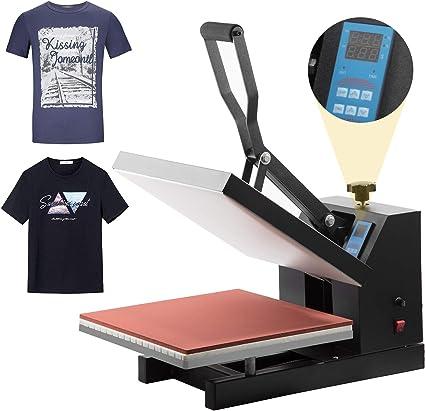 Heat Press Machine 15x15 Digital Control Panel Pressing Machine Sublimation Transfer Machine for DIY Creative Industrial Heat Press Machine for T-Shirt Canvas Bags Black Mouse Pad