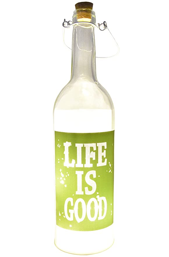 Review Fairy Lights LED Lamp Decorative Wine Bottle Light Lamps for Women, Indoor and Outdoor Home Decor (Green,Life is Good)