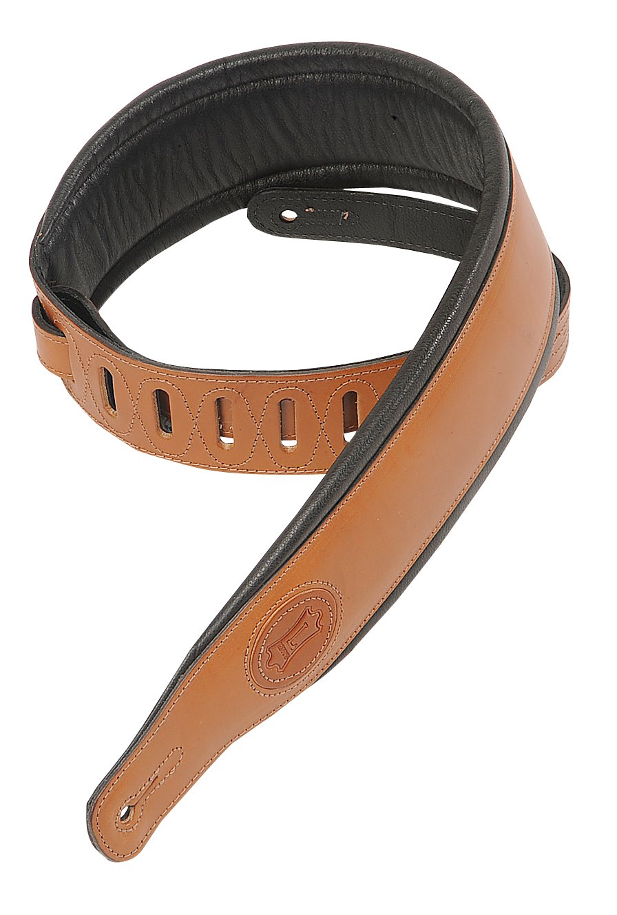 Levy's Leathers MSS1-WAL Veg Tan Leather Guitar Strap,Walnut Levy's Leathers