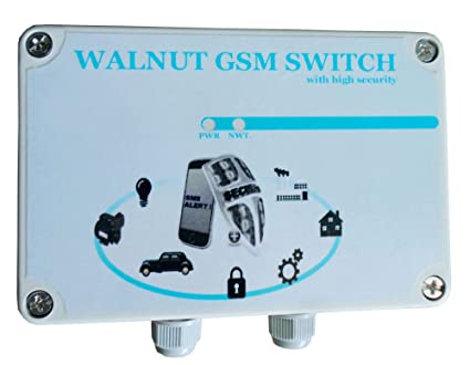 Walnut Innovations ABS Plastic GSM remote and Relay control switch (Off  White)