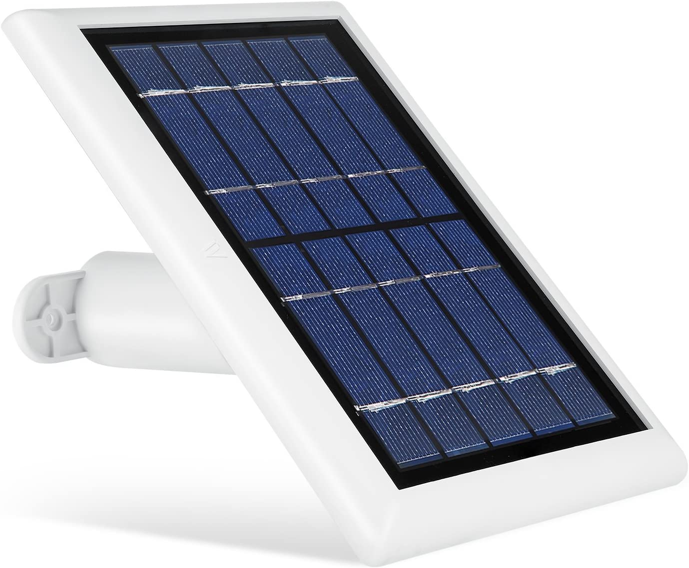 Solar Panel for Logitech Circle 2, Power Your Home Security Camera Continuously with Our Solar Charger – by Wasserstein (White) (NOT compatible with the Logitech Circle 2 (Wired) and Logitech Circle 1
