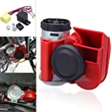 Iglobalbuy 12V 136 db Air Horn Compressor Kit Compact Double Tone fort Motorcycle Car Truck train SUV Boat Snail Dual Tone pompe électrique