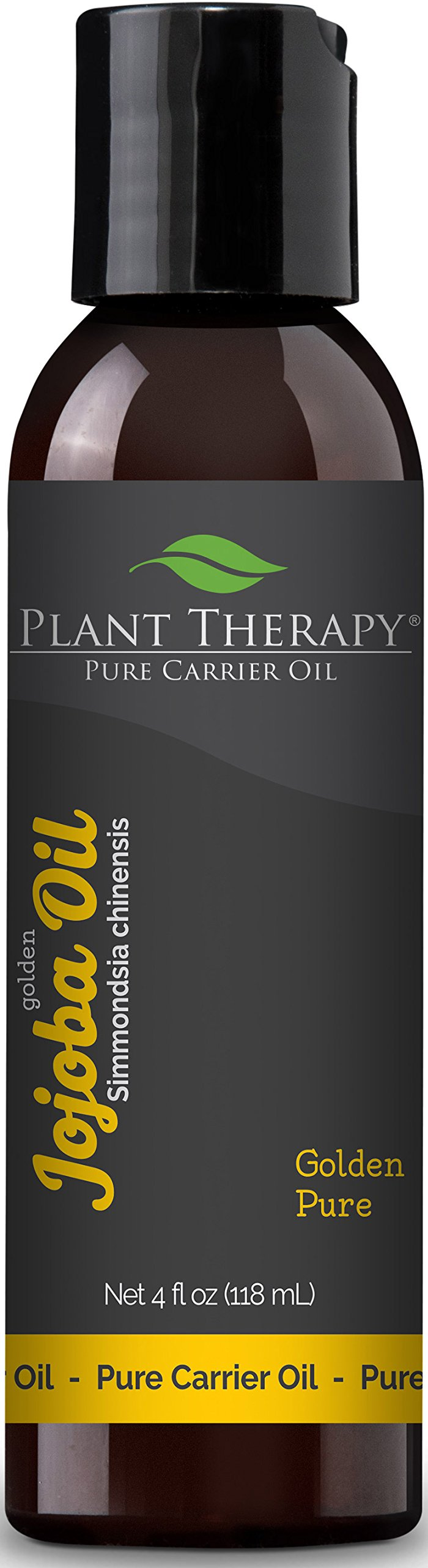 Plant Therapy Jojoba Oil. 100% Pure, Cold-Pressed, Natural and GMO-free Moisturizer and Carrier Oil for Essential Oils. 4 oz. by Plant Therapy