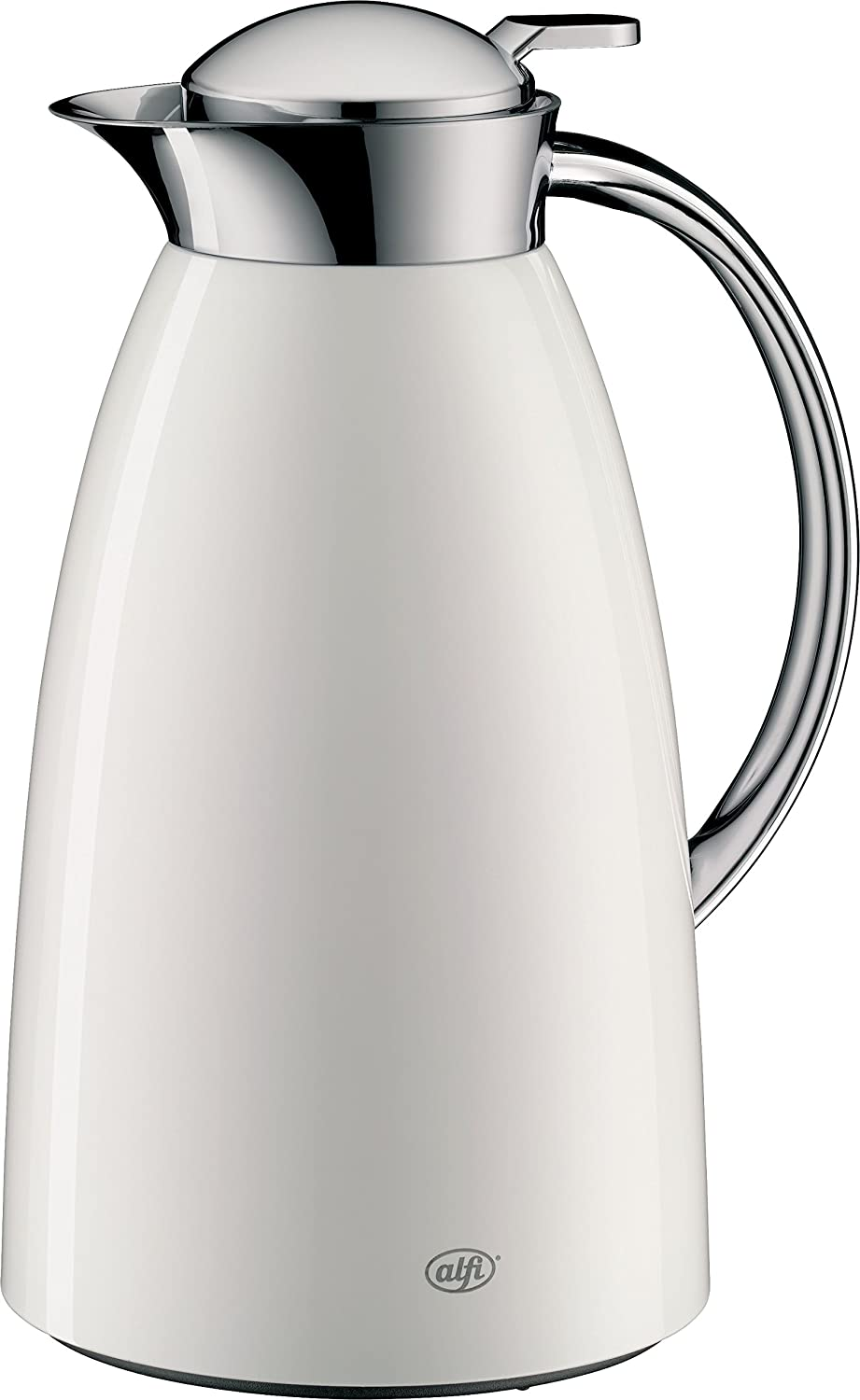B01F8C4UWS alfi Gusto Glass Vacuum Lacquered Metal Thermal Carafe for Hot and Cold Beverages, 1.0 L, White 71ILwlaT1mL