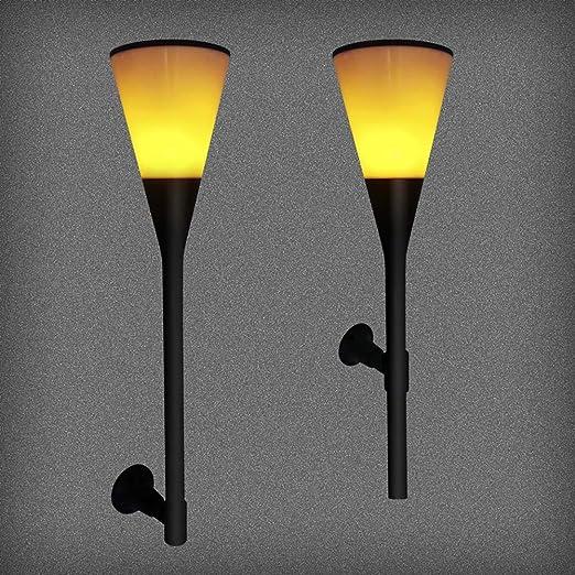 Luz solar Luz solar de césped Luz de llama al aire libre Luz de jardín Luz de jardín Decoración de calle Luz de calle Usos: Luz de césped: Amazon.es: Iluminación