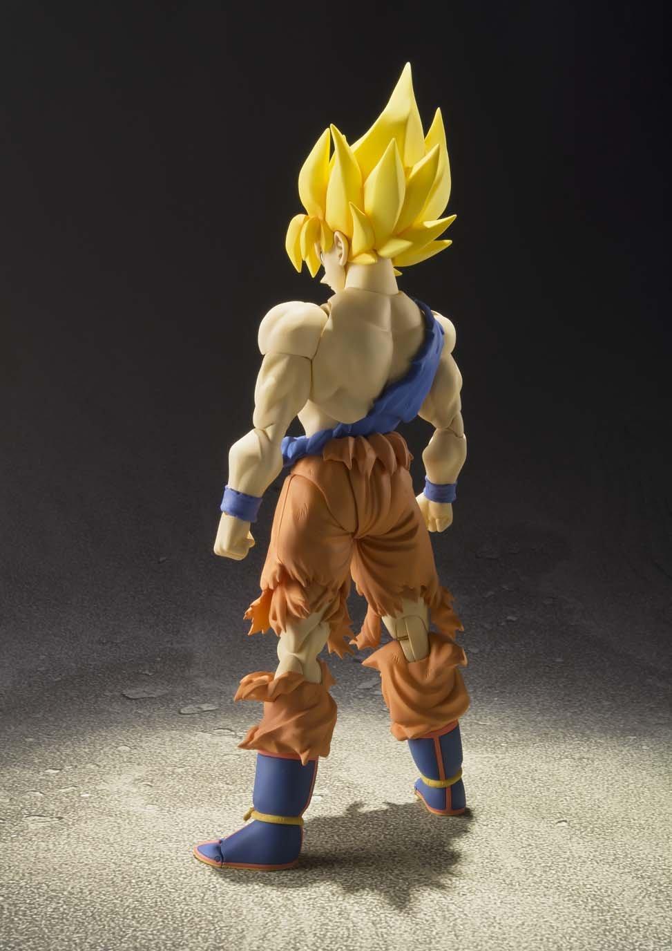 figurine 'dragon ball z' – super saiyan goku awakening – jaune