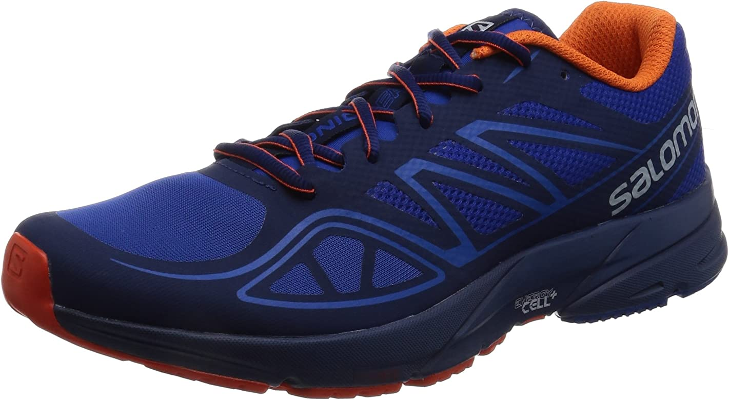 Salomon Sonic Aero, Zapatillas de Trail Running para Hombre, Azul (Surf The Web/Blue Depths/Flame), 45 1/3 EU: Amazon.es: Zapatos y complementos