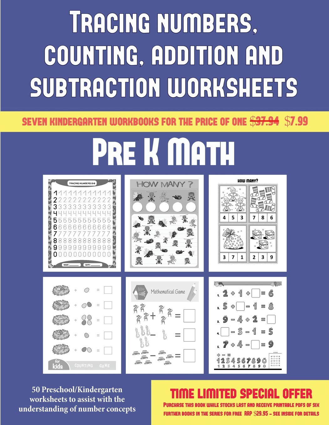 Pre K Math (Tracing Numbers, Counting, Addition and ...