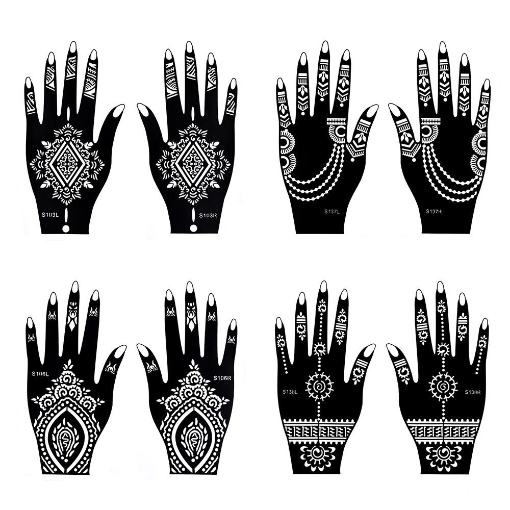 Henna tattoo stencil temporary tattoo for Henna temporary tattoo stencils