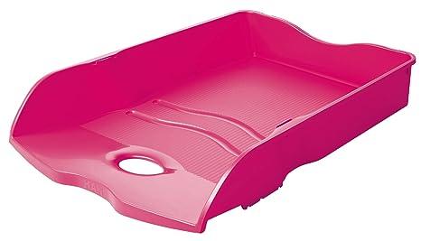 Han loop plastique rose bac de rangement de bureau bacs de