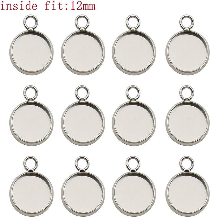 DZ015 Pendant Blank 11\u00d714mm 12\u00d717mm 14\u00d720mm Vintage Silver Pendant Base Oval Pendant Blanks
