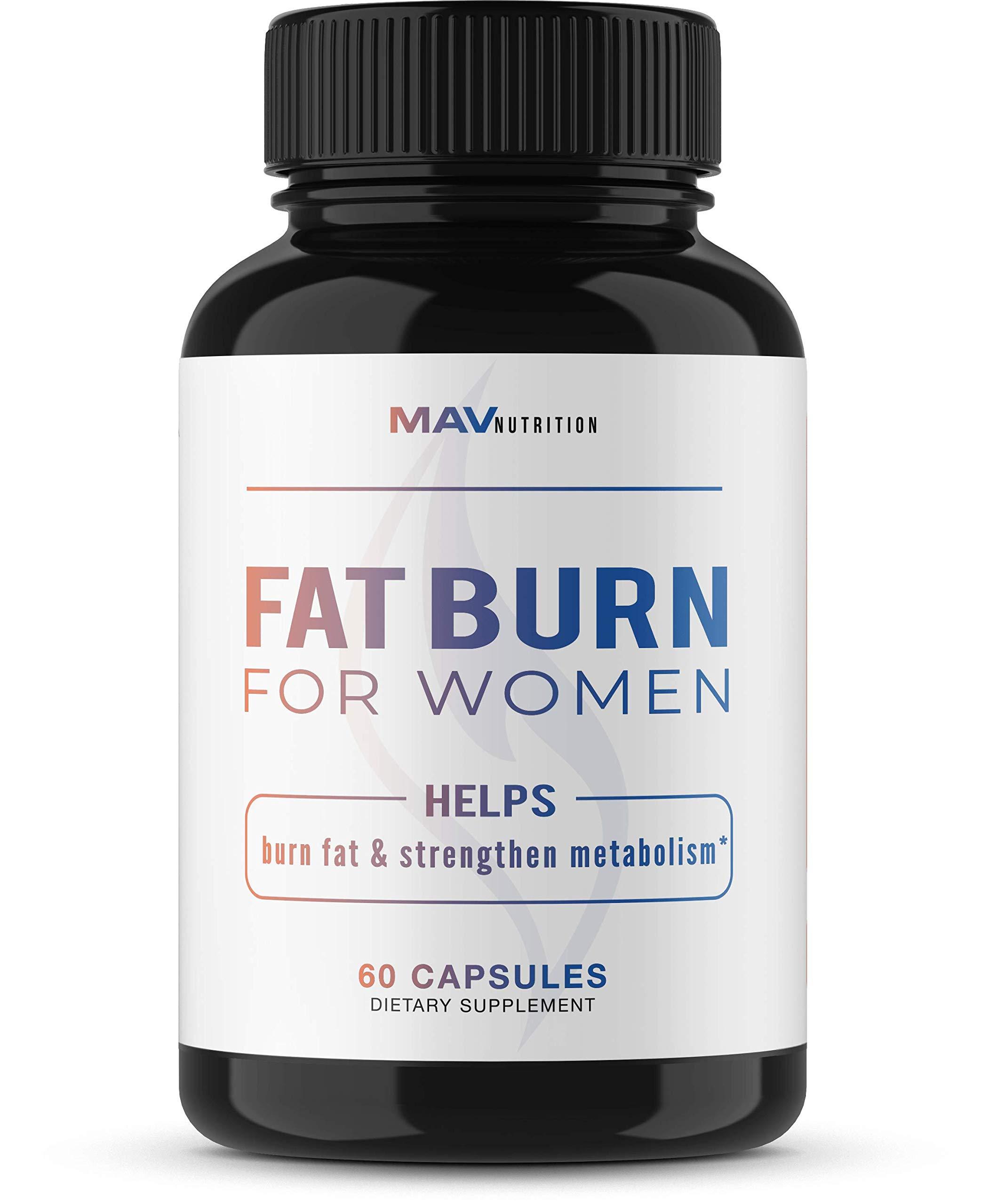 Womens Fat Burner Weight Loss Pills Designed for Increasing Healthy Metabolism, Supporting Energy Levels, Fat Loss, and Increasing Tone; Non-GMO, Gelatin-Free; 60 Vegetarian Capsules for Women by MAV Nutriton (Image #1)