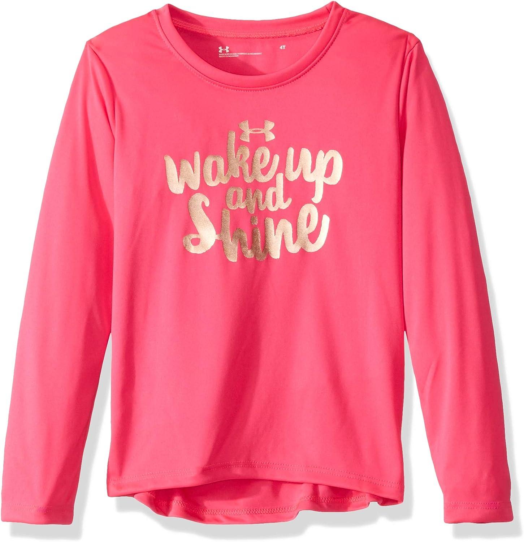 Under Armour Toddler Girl/'s *Girl/'s Never Quit* Logo Tee Size 2T