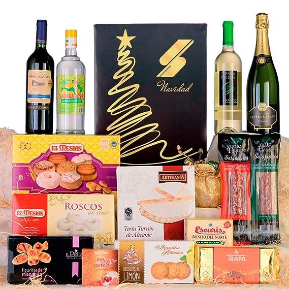 Cesta de Navidad, lote de Navidad nº4 con productos ibéricos de bellota
