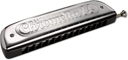 Harmonica in all keys Hohner Chrometta 12 Free Shipping in the U box included