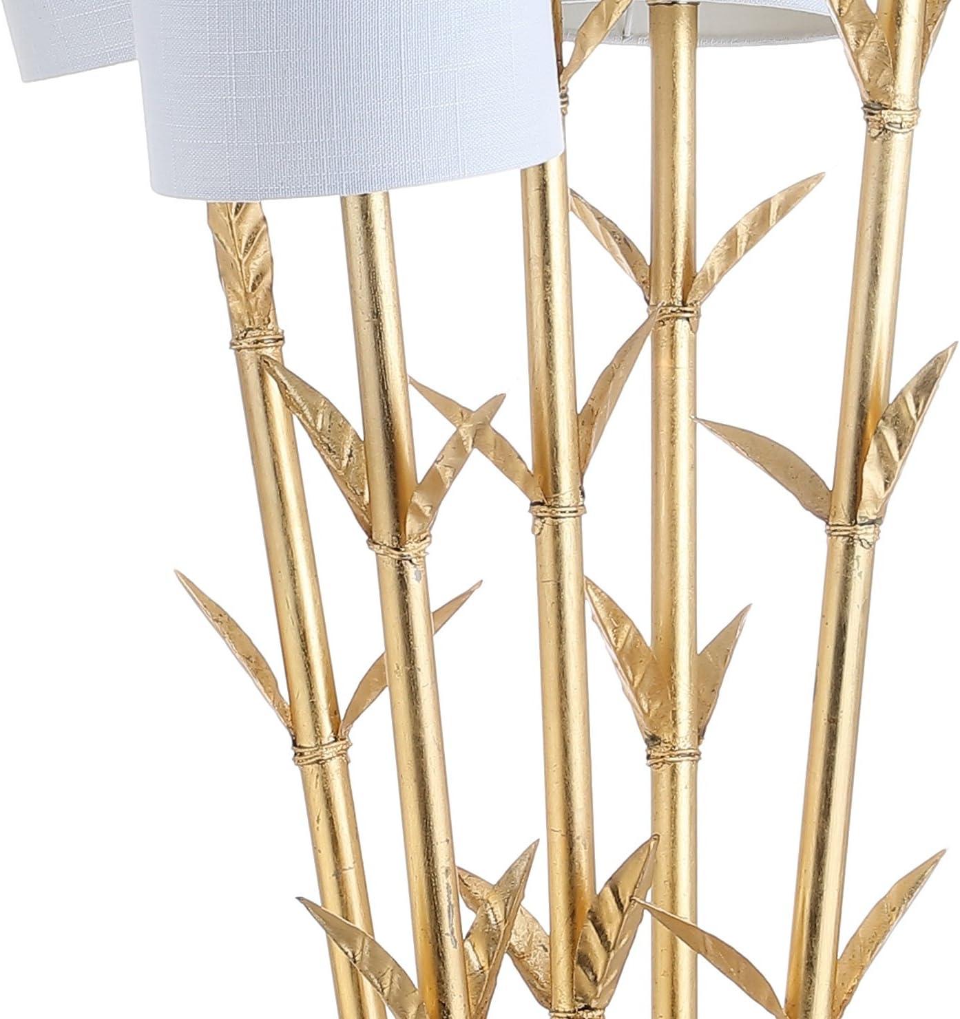 """Jonathan Y 5-Light Brass 65.5"""" LED Floor Lamp, Gold/White ..."""