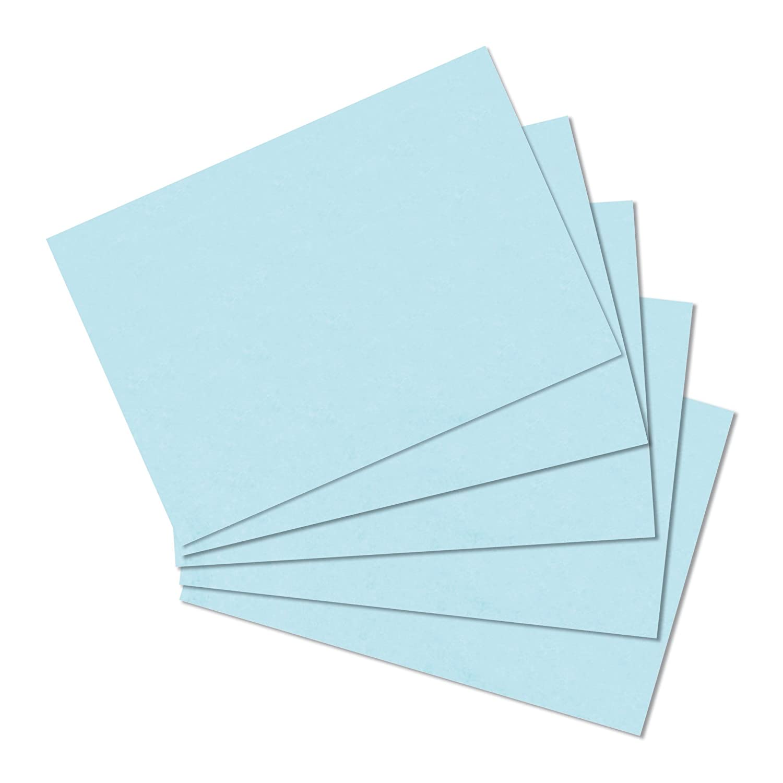 blanko DIN A5 gelb VE= herlitz-10837136- Karteikarten