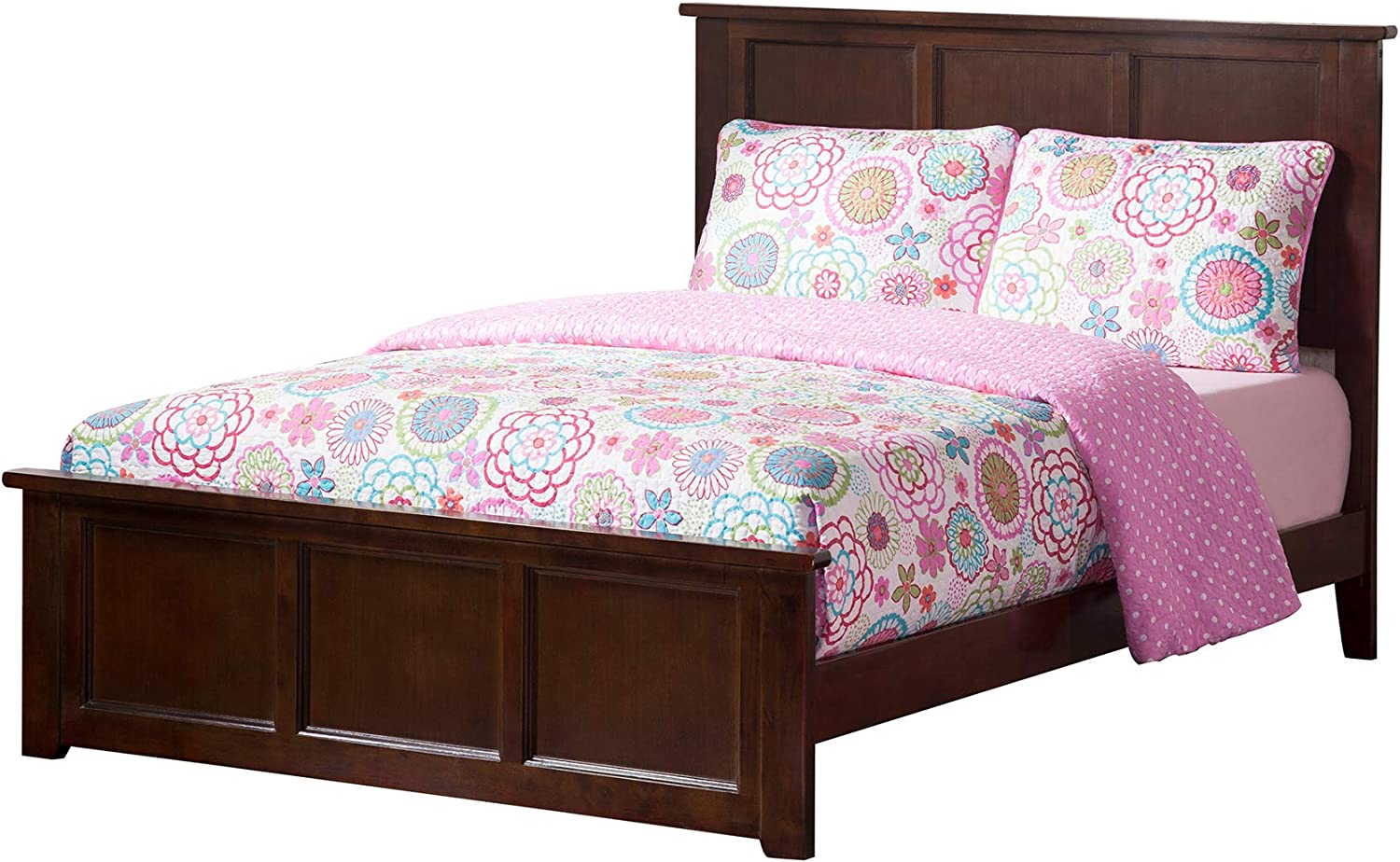 Atlantic Furniture Madison Traditional Bed with Matching Foot Board, Full, Walnut