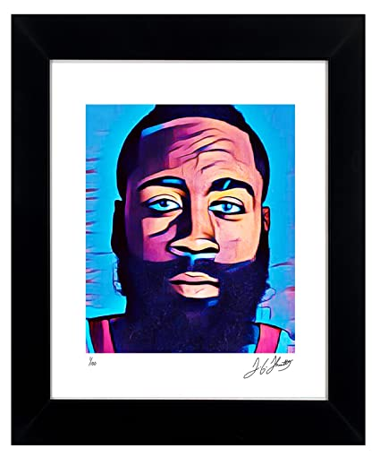 82a77dabe079 James Harden Framed Wall Art Autographed NBA Collectible by TGTHURKETTLE. James  Harden 1 100