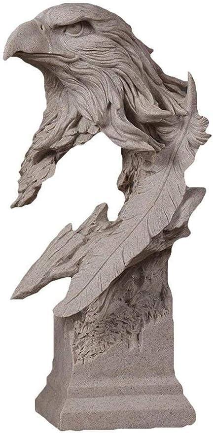 RYOG Estatuas para jardín Decoración de la Sala Estatua águila Escultura Estatua Abstracta decoración Resina Animal Pintado a Mano Estatua Adecuada para Sala de Estar Dormitorio Oficina (15X16X31cm: Amazon.es: Hogar