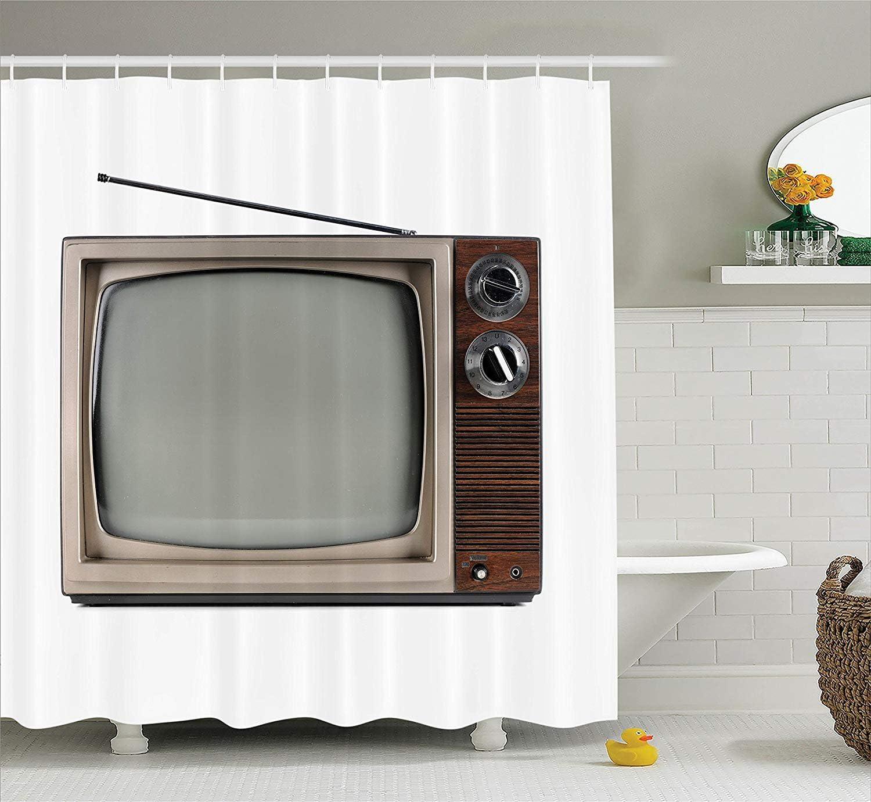 Nyngei Colección 50s Televisor Antiguo con Antena transmitida electrónica electrónica Antigua Imagen de TV de marrón para baño Largo Beige: Amazon.es: Hogar