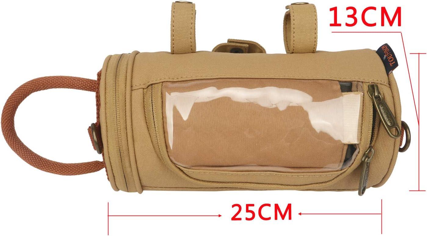 Tourbon Bolsa de Lona Impermeable para Manillar de Bicicleta con Pantalla t/áctil