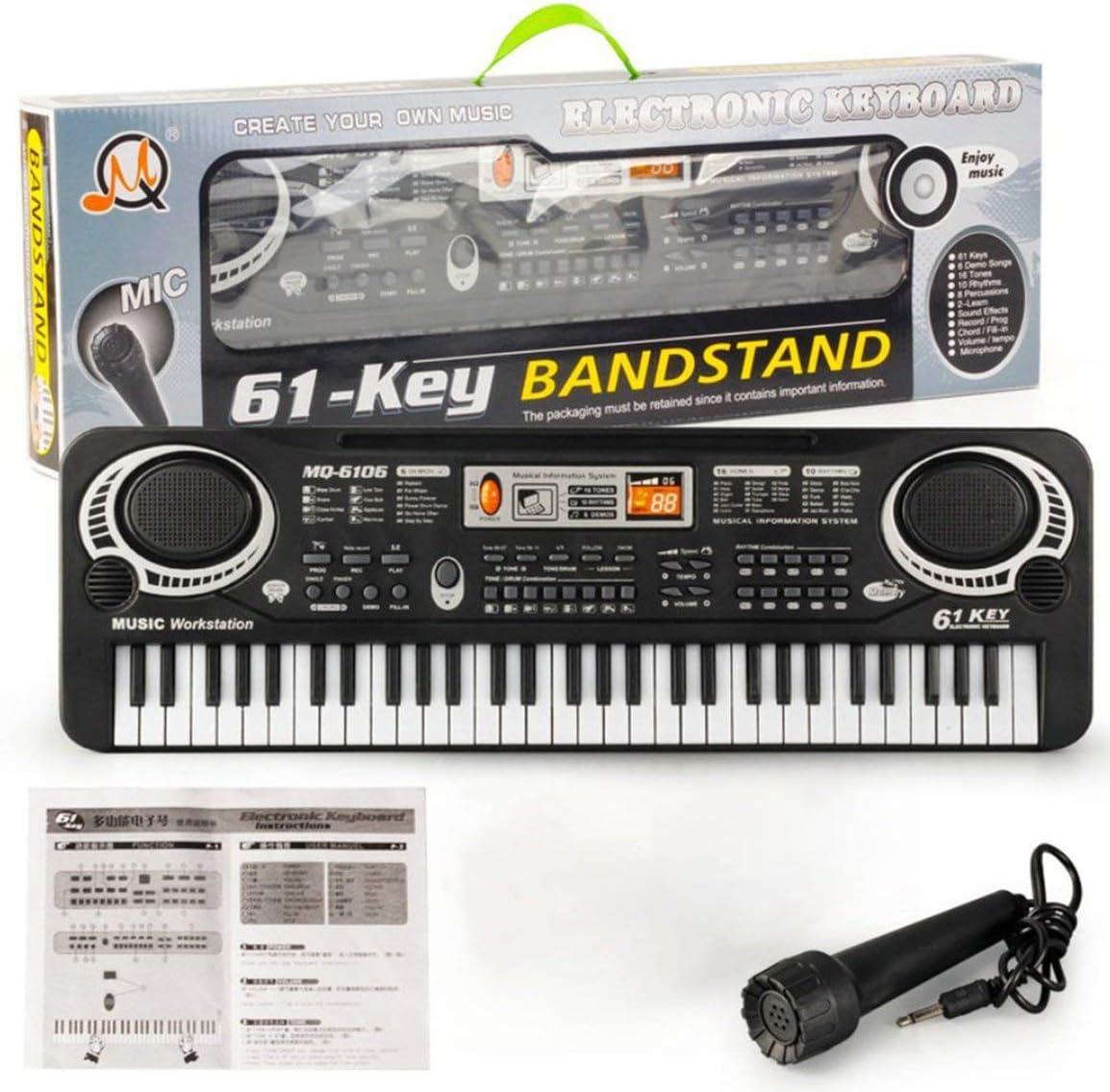 61 teclas Música Teclado digital electrónico Órgano eléctrico ...