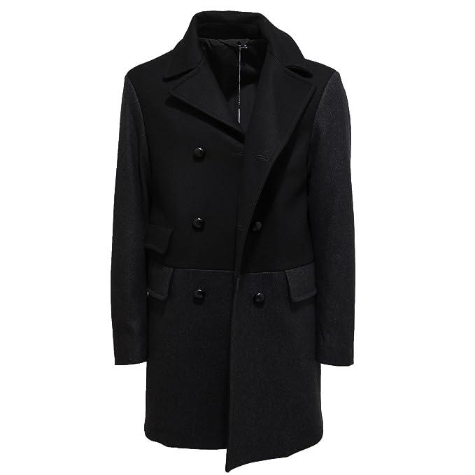 Ermenegildo Zegna 9062L cappotto uomo nero grigio lana jackets men  S    Amazon.it  Abbigliamento 7a5165603dc