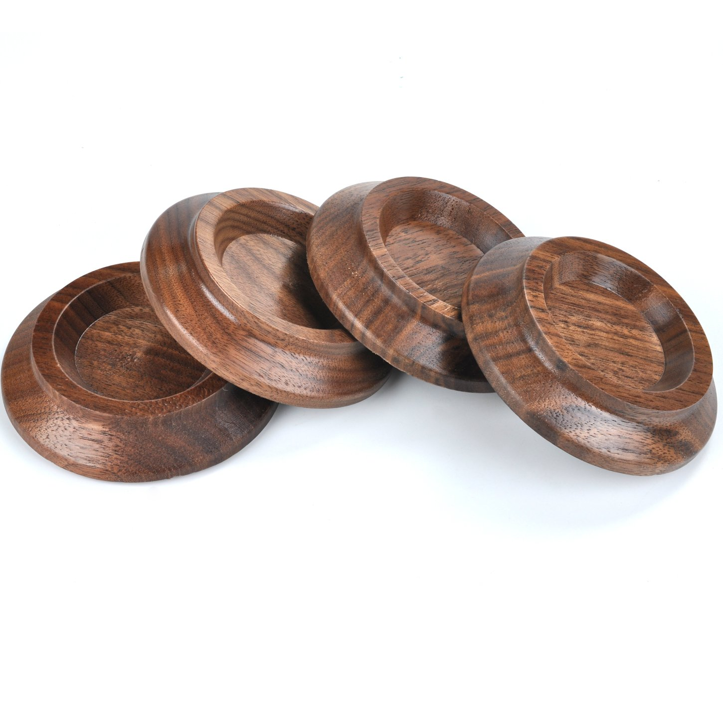 Upright Piano Caster Cups ,Solid Wood Furniture,Piano Caster Cups - Non-Slip & Anti-Noise Foam (black walnut) by WOGOD (Image #3)