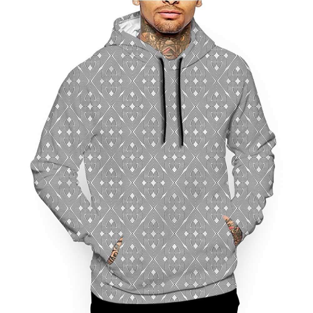 Hoodies Sweatshirt/Men 3D Print Black and White,Bushes Wild Field,Sweatshirts for Women Hoodie Pullover