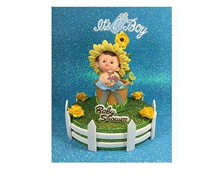 Amazon.com: Unique girasol bebé ducha Decoración para Tarta ...
