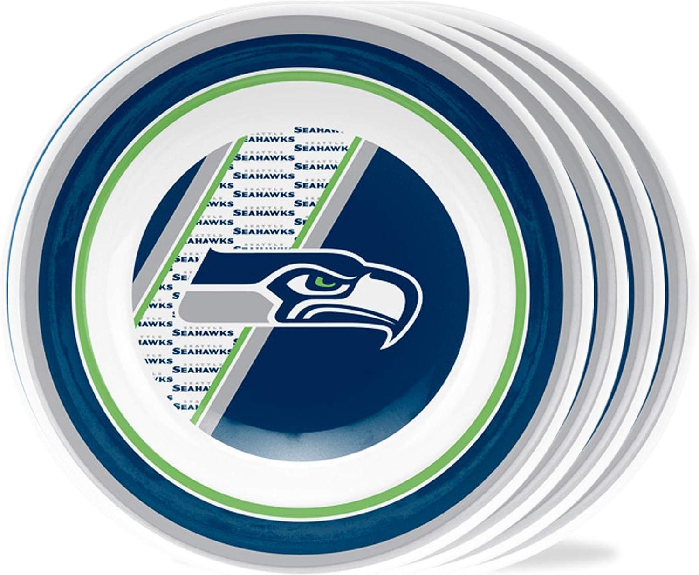 Duck House NFL Melamine Plastic Dinner Party Bowls, Set of 4