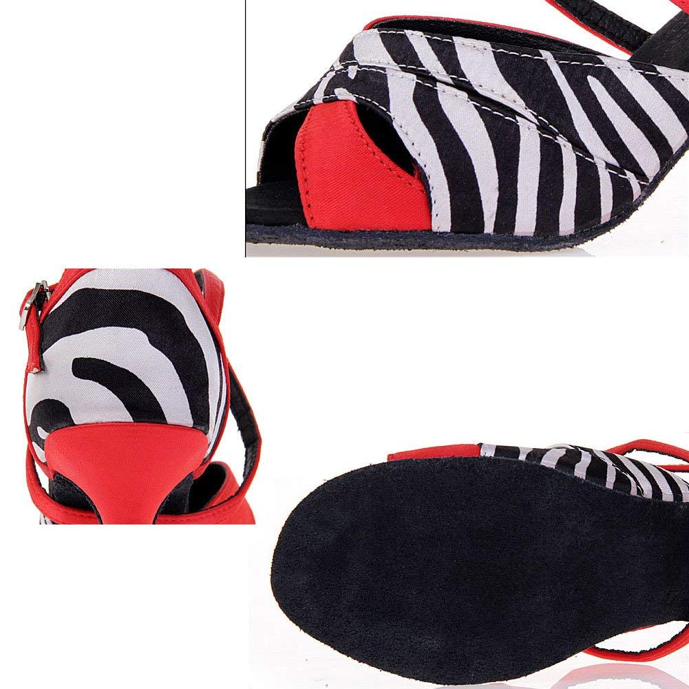 ZHRUI Striscia Tanzschuhe für Damen, Latin Dance Schuhe Schuhe Schuhe Soziale Tanzschuhe (Farbe   A, Größe   Foot Length=24.3CM9.6Inch) 74ab28
