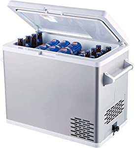 Ausranvik 54-Quart portable freezer Large car refrigerator car fridge - 12V/24V DC and 110V AC