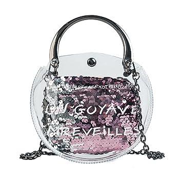 a90d09da90876 GWQGZ Transparente Weibliche Tasche 2018 Sommer Mode Neue Handtasche Hohe  Qualität Pvc Frauen Tasche Pailletten Kleine