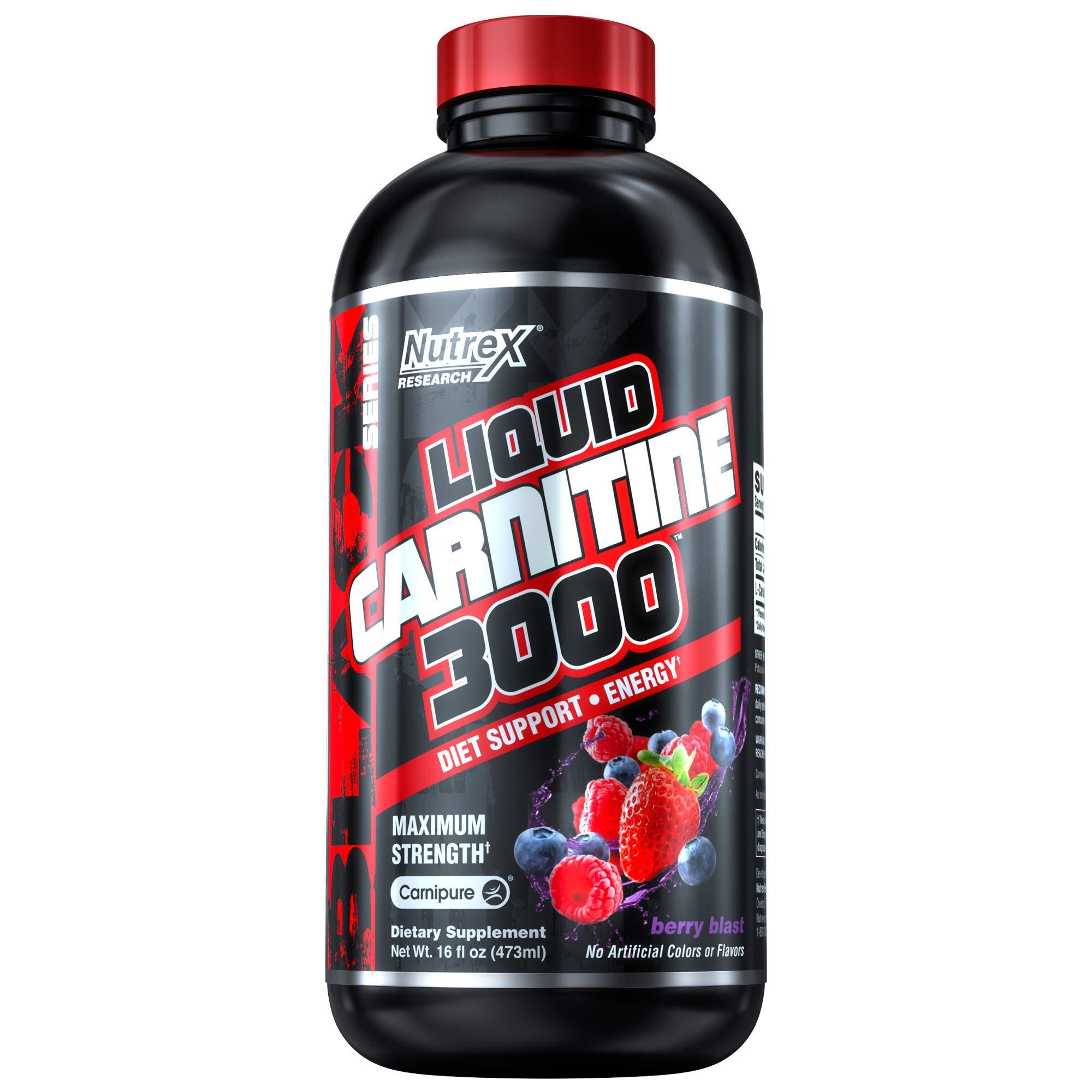 Nutrex Research Liquid Carnitine 3000 | Premium Liquid Carnitine, Stimulant Free, Fat Loss Support | Berry Blast by Nutrex Research