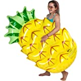 U.S. Pool Supply Huge 5 Foot Inflatable Pineapple Pool Float - Fun Kids Swim Party Toy - Summer Lounge Raft