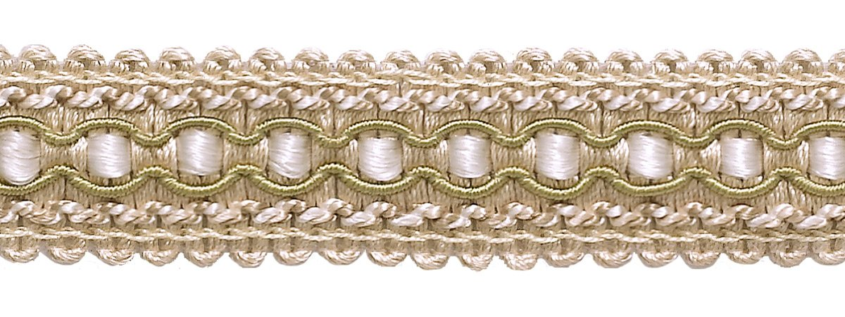 DÉCOPRO 27 Yard Package|Decorative|Ivory, Light Beige|Gimp Braid Trim|1 inch (25mm)|Style#: 0125IG|Color: 4001 (White Sands) by DÉCOPRO