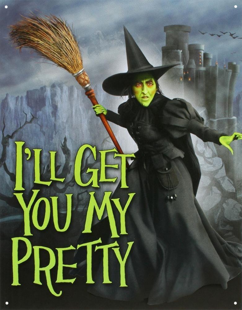 Wizard of Oz Wicked Witch Tin Sign