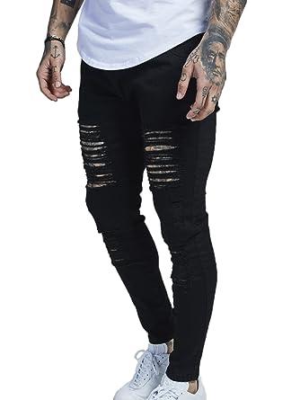 d78c3058e91 SikSilk Men's Low Rise Skinny Jeans: Amazon.co.uk: Clothing